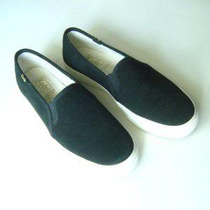 KEDS Double Decker Slip on Black Suede Sneakers